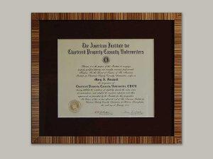 Custom frame for a hard earned degree