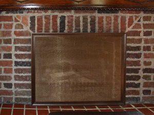 Framed fire place screen