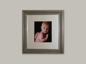 Classic metallic frame with ornate details