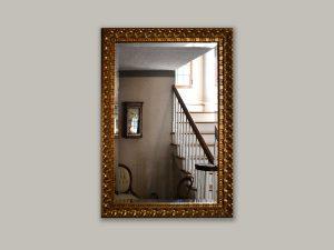 Large bronze mirror frame